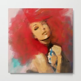 Portrait of a Lady, Natural Redhead Metal Print