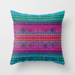 TealRug Throw Pillow