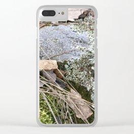mossy prairie rock Clear iPhone Case