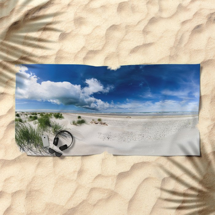 Grenen Beach Panorama Beach Towel