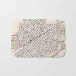 Vintage Map of Birmingham Alabama (1901) Bath Mat
