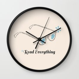 Cat Eye Gasses - Read Everything Wall Clock