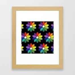 Flower pattern based on James Ward's Chromatic Circle (enhanced) Framed Art Print