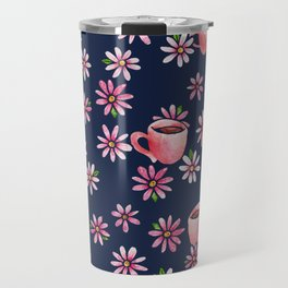 Coffee Lovers floral Travel Mug