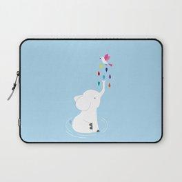 Baby elephant and bird Laptop Sleeve