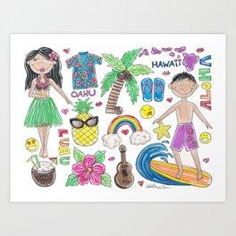 I Love Hawaii Art Print