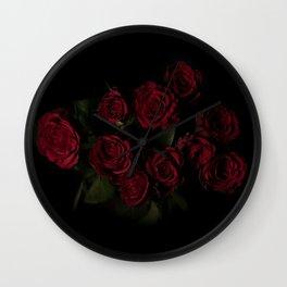 red roses #society6 #decor #buyart Wall Clock