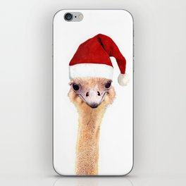 Ostrich Christmas iPhone Skin