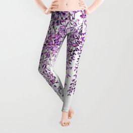 purple wisteria in bloom Leggings