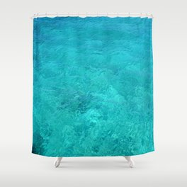 Clear Turquoise Water Shower Curtain