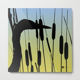 Great Blue Heron - Sunrise Metal Print