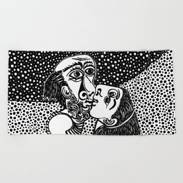 Picasso - The kiss Beach Towel