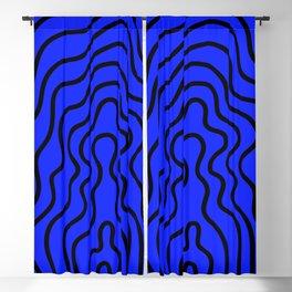 Music Line Vibes Sapphire Blue Blackout Curtain