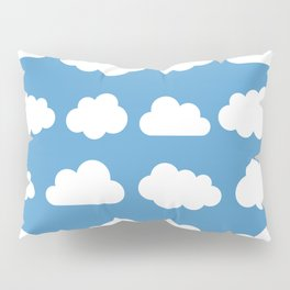 White clouds on a blue skies Pillow Sham