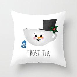 Frost-tea Throw Pillow