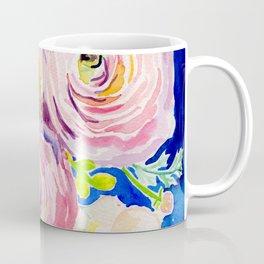 Blue Posey Coffee Mug