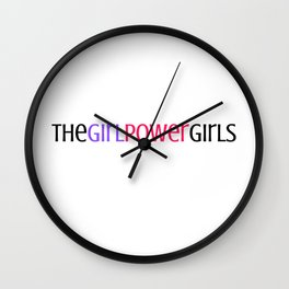The Girl Power Girls Wall Clock