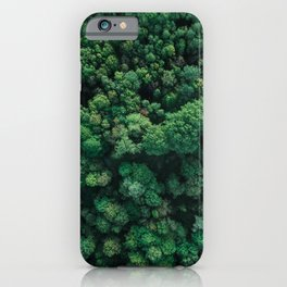 Trees from above | Forest fine art photography | Aerial drone photo print iPhone Case