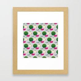 Traditional Japanese summer pattern_A Framed Art Print