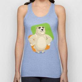Majestic Polar Bear Standing Unisex Tank Top
