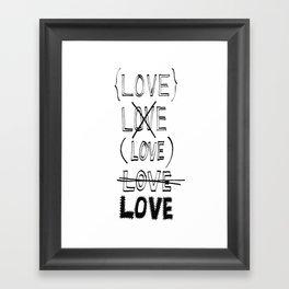 XLOVE Framed Art Print