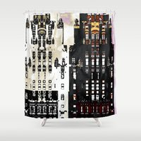 building Shower Curtains featuring Radiator Building by Steve W Schwartz Art