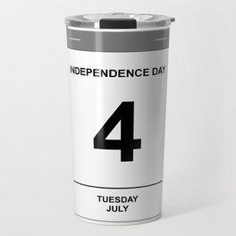 4th July Tuesday Travel Mug