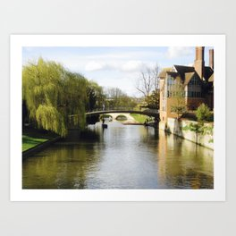 Cambridge Canal Art Print