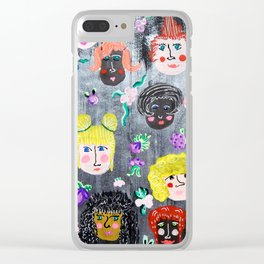 Fearless Faces Clear iPhone Case