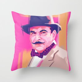 Hercule Poirot Throw Pillow