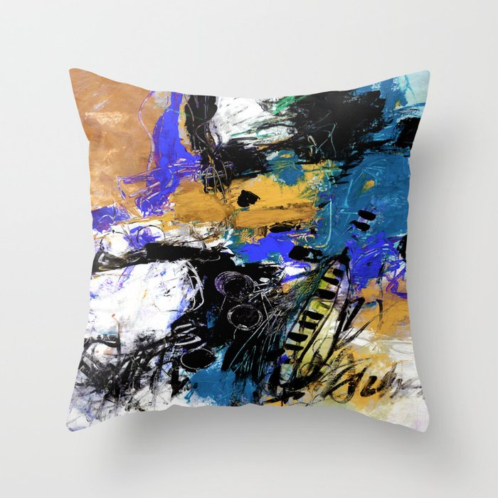 Jazzy Emotions No.1H by Kathy Morton Stanion Throw Pillow