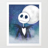jack skellington Art Prints featuring Jack Skellington by MythicPhoenix