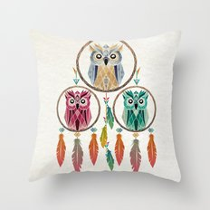 dream owl Throw Pillow