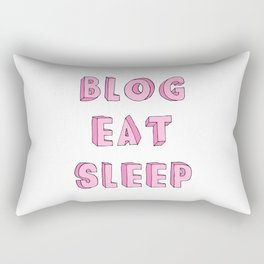 BLOG EAT SLEEP Rectangular Pillow