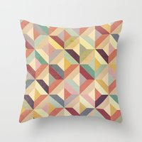 geo Throw Pillows featuring Geo by Hooray Creative