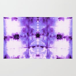 Violet Shibori Satin Rug