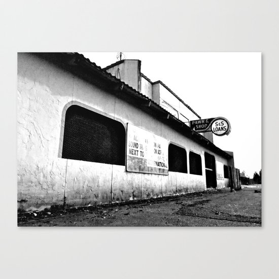 Empty pawn shop Canvas Print