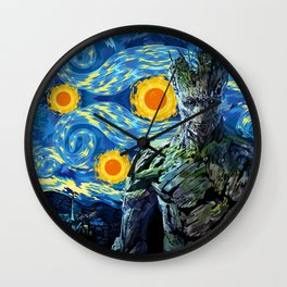 Guardian of the starry night iPhone 4 4s 5 5c 6, pillow case, mugs and tshirt Wall Clock