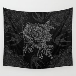 Messy flower Wall Tapestry