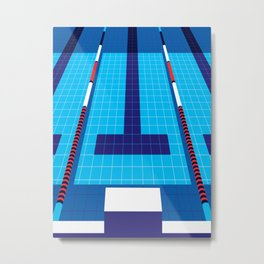 Swimming Metal Print