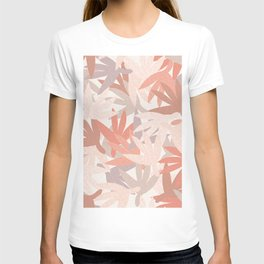 Neutral Leaves with Texture T-shirt