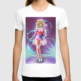 Space pin up T-shirt