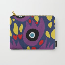 Purple Birds in the Night Illustration Art Carry-All Pouch