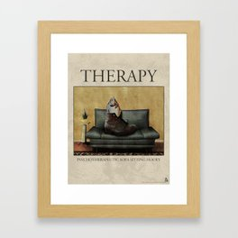 Therapy Poster Framed Art Print