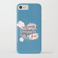 wreck it ralph iPhone & iPod Cases featuring You're one dynamite Gal.. funny disney pixar.. wreck it ralph quote by studiomarshallarts