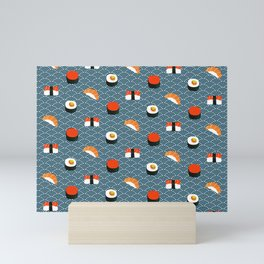 Sushi Pattern Mini Art Print