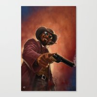 django Canvas Prints featuring Django by Andrea Mangiri
