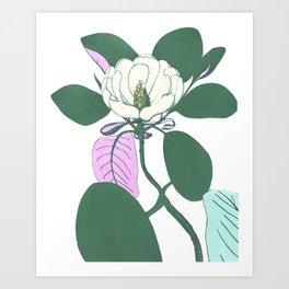 Leaf and flower Art Print