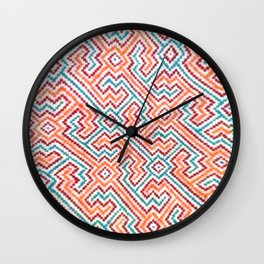 Song to Bring Vision & Insight - Traditional Shipibo Art - Indigenous Ayahuasca Patterns Wall Clock