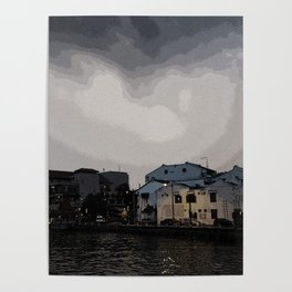Evening at the Waterfront Poster